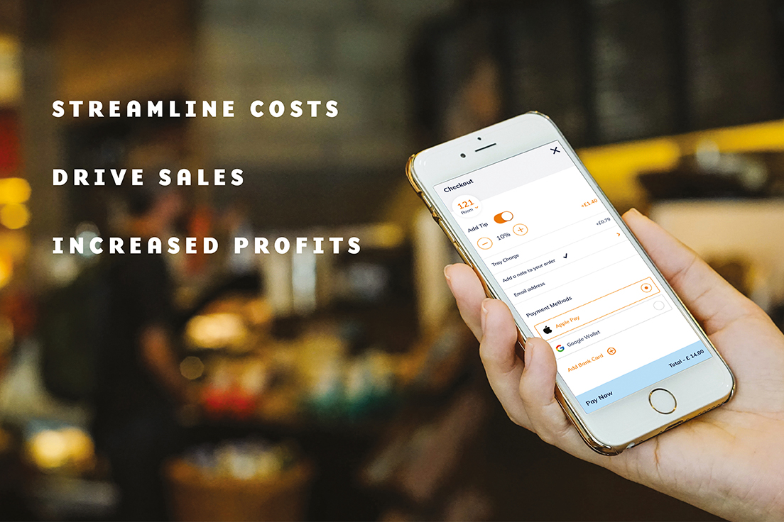Firsti® order and pay on a mobile phone